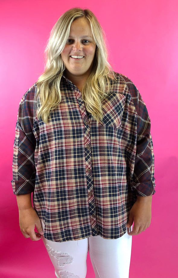Better Now Plaid Top - Plus