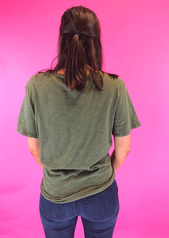 Every Move Distressed Top - Olive