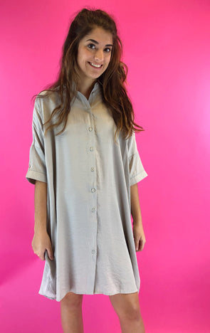 Instant Attraction Shirt Dress
