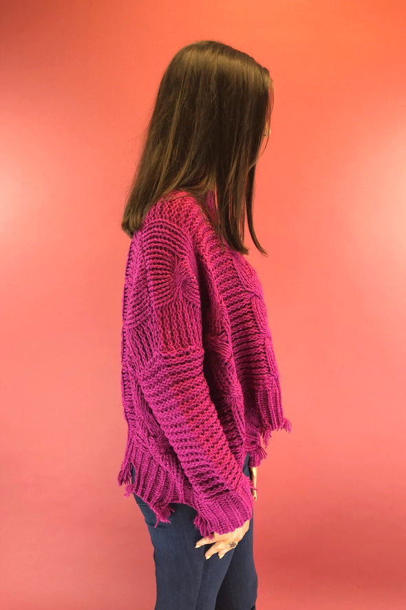 Well Balanced Cable Knit Sweater