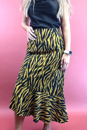 Where to Find Me Tiger Skirt