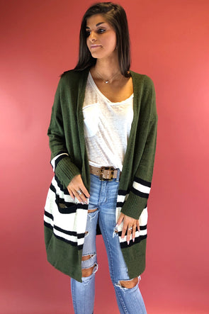 The Only Way Color Block Cardigan