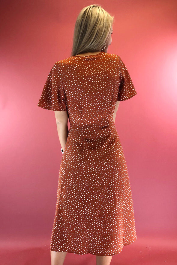 Easy Living Polka Dot Midi Dress