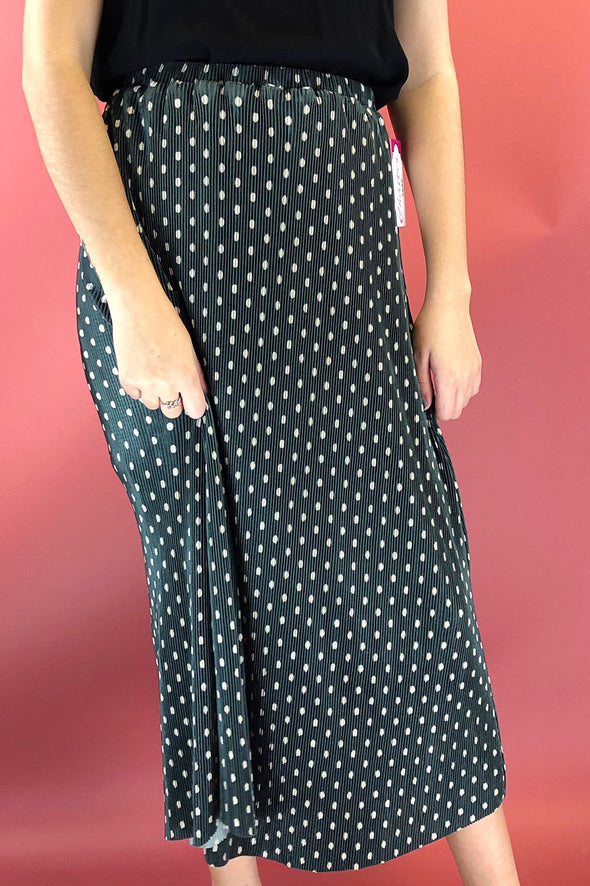 Catherine Polka Dot Midi Skirt