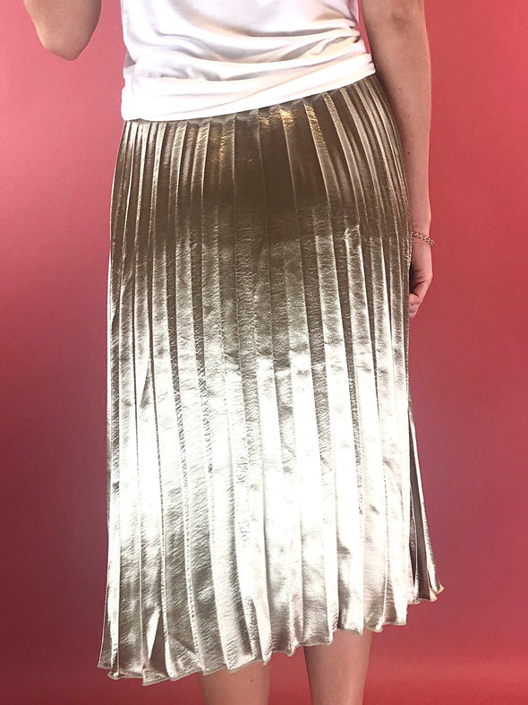 Found My Love Metallic Midi Skirt