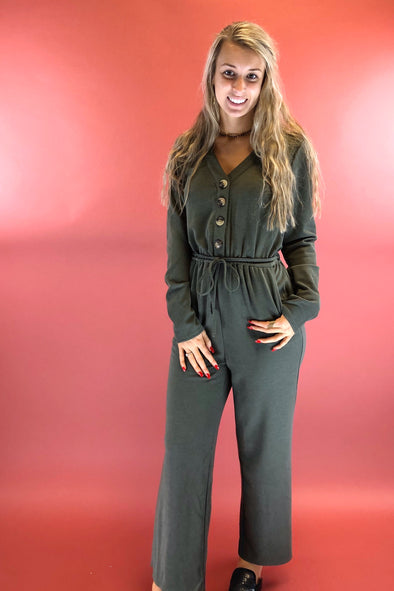 Jumping Olive Jumpsuit