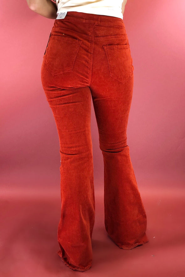 Feel the Beat Corduroy Super Flare Jeans