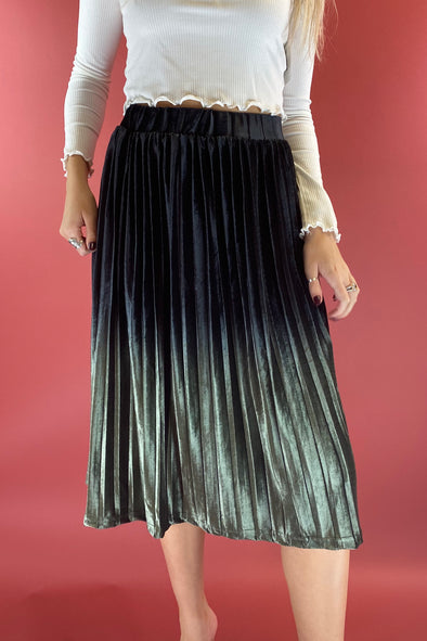 As You Wish Velvet Midi Skirt
