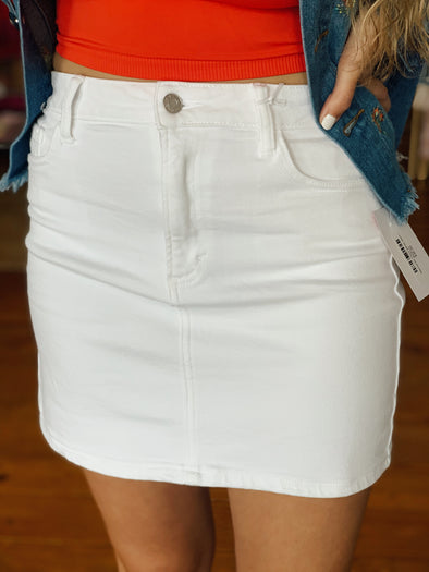 Wanna Be There White Skirt