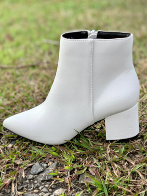 Rapid White Bootie