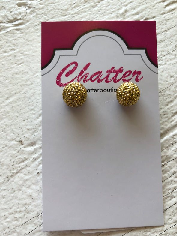Sparkle Stud Earrings - Gold