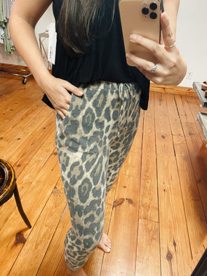 Again and Again Leopard Joggers