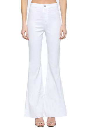 Another Day High Rise White Super Flare Jeans