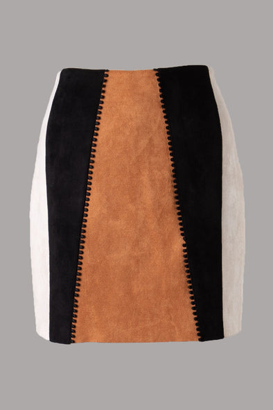 In the Era Color Block Skirt