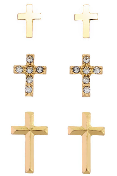 Cross Set Earring