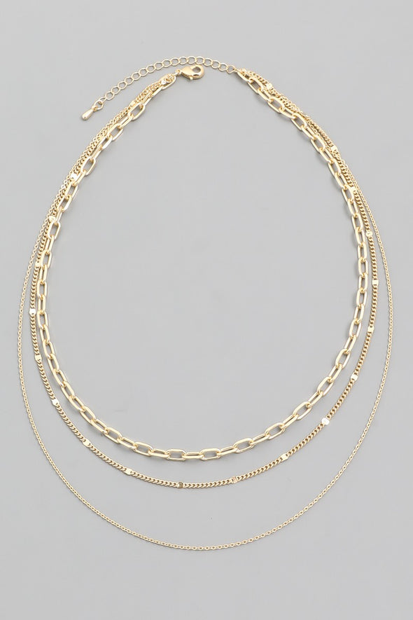 Fallin' For You Gold Layered Necklace