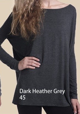 Close to Perfect Piko Top - Dark Heather Grey