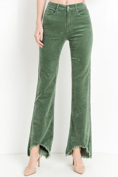 Lead Me There Corduroy Flare Pants