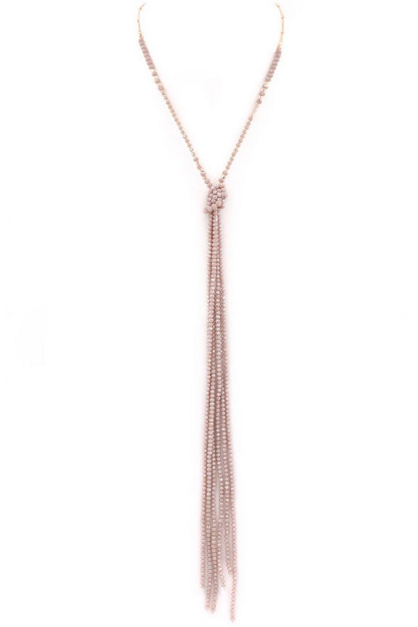 Night Out Beaded Tassel Necklace - Multiple Colors