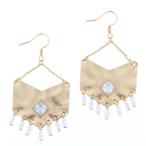 Luminous Earring Collection - Chevron Fringe