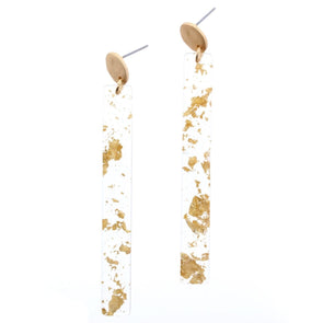 Luminous Earring Collection - Gold Fleck Bar