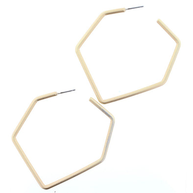 Luminous Earring Collection - Gold Irregular Hexagon