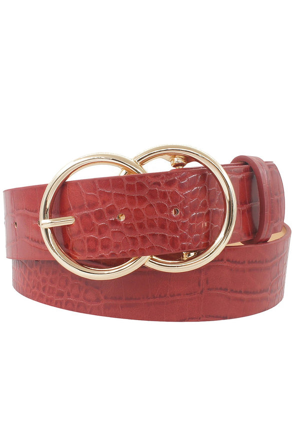 Retro Vibes Crocodile Belt