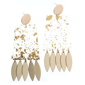 Luminous Earring Collection - Gold Fleck with Fringe