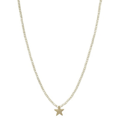 Natural Crystal Gold Star Necklace