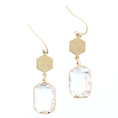 Luminous Earring Collection - Square Crystal