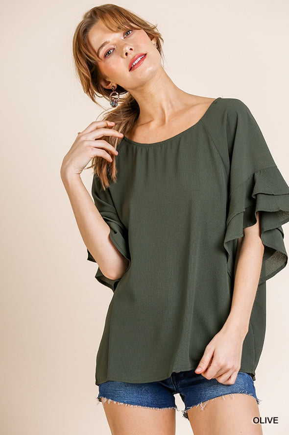 Look Back Top - Olive
