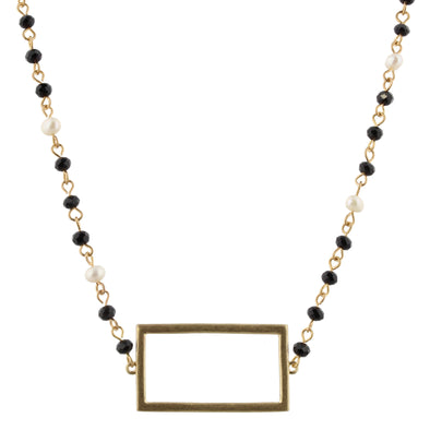 Jet Rectangle Necklace