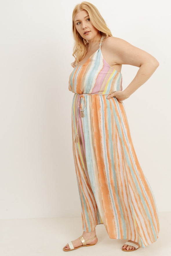 Looking For You Striped Maxi Dress