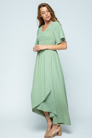 I'm With You Smocked Maxi Dress