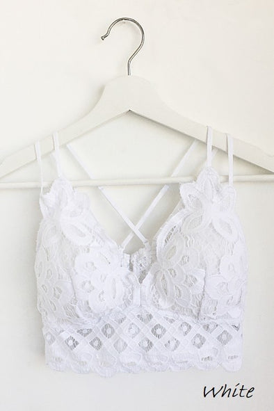 Luxe in Lace Bralette - White