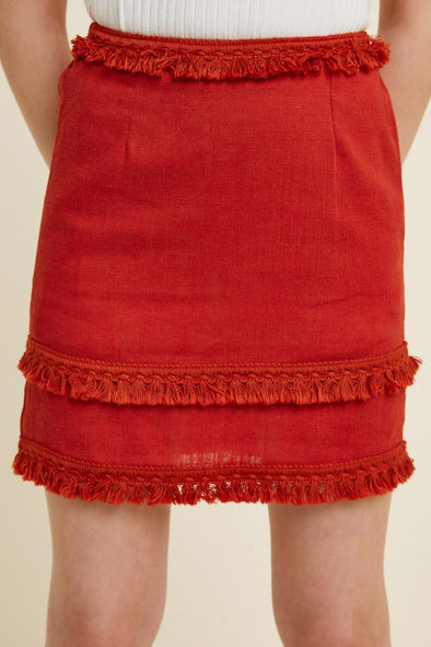 For The Fun Of It Tassel Skirt - Tween