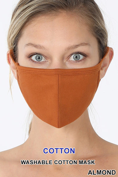 Cotton Face Mask - Various Colors