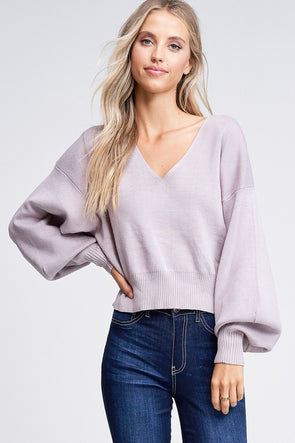 Diane Balloon Sleeve Sweater