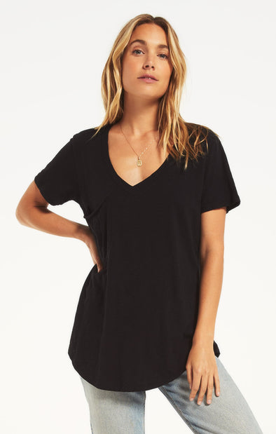 The Cotton Pocket Tee - Black