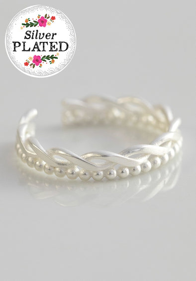 Silver Twist Toe Ring