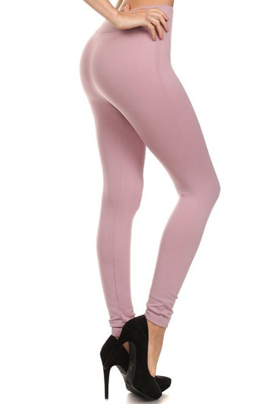 Fleece Leggings - Mauve One Size