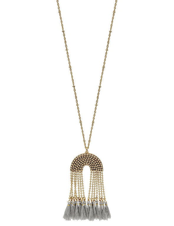 Take Control Tassel Necklace - Multiple Colors