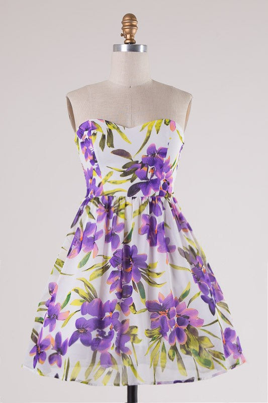 Like a Song Floral Dress