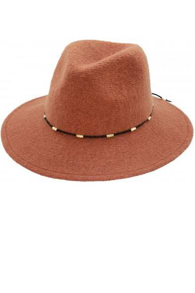 Around Town Wool Hat - Rust