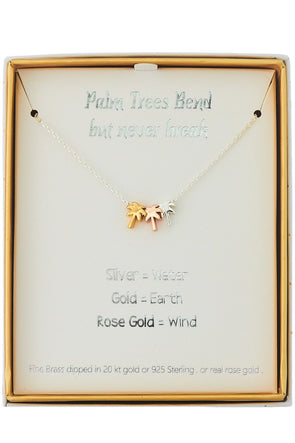 Palms Up Sterling Necklace