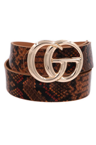 The Best Part Snake Print Belt
