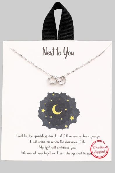 Moon & Stars Necklace - Multiple Colors