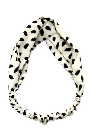 Dot Print Knot Headband
