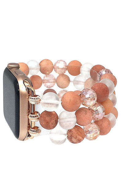 Stone Beaded Apple Watch Band