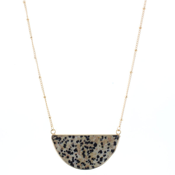 Caddie Collection Necklace - Dalmation Semi Circle
